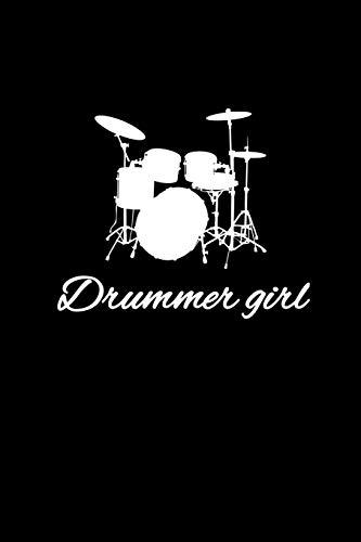 Drummer Girl: Liniertes Notizbuch A5 - Schlagzeug Musik Notizbuch I Schlagzeuger Mädchen Band Drummer Musiker Geschenk