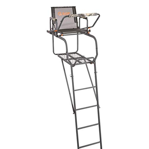 Guide Gear 15.5' Climbing Ladder Tree Stand for Hunting with Mesh Seat, Hunting Gear, Equipment, and Accessories