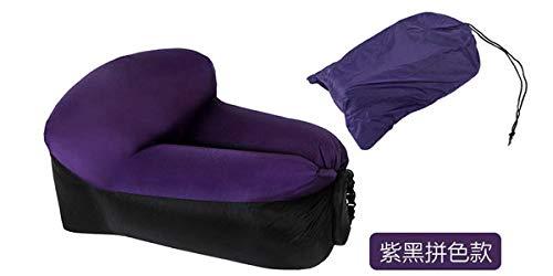 Stoel LKU Campingmeubilair lucht strandstoel zitkussen draagbare outdoor gras tuin opblaasbare bank, diep paars