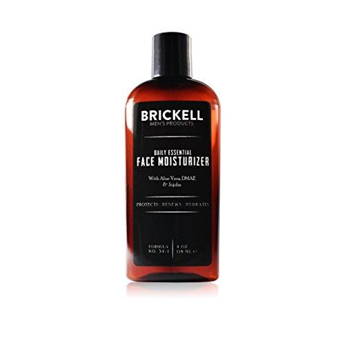 Brickell Men's Daily Essential Face Moisturizer - Natürliche & organische Feuchtigkeitscreme - Männer Gesichtscreme - Mit Hyaluronsäure, Grüntee Extrakt & Jojobaöl - 118 ml - Parfümiert
