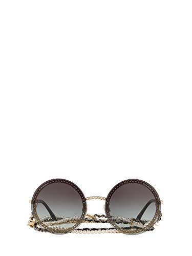 Luxury Fashion | Chanel Dames CH4245C125S6 Grijs Metaal Zonnebrillen | Seizoen Permanent