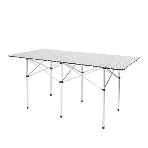 FDY Camping Table, Rectangular Folding Table with Carry Bag, Lightweight Aluminum Table for Outdoor Picnic Cooking (55 x 28 x 28)