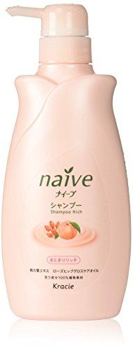 KRACIE Naive Shampoo Peach Pump Moist