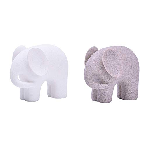 ZGQA-GQA Home Decoration Animal Sculpture Resin Crafts Home White Sand Elephant Decoration