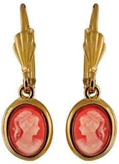 pour les femmes filles f1776 Findout dames rose plaqu/é or titane acier classique simple chat amour vous /à la lune boucles doreilles