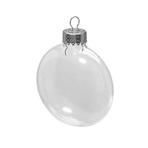 Clear Glass Disc Ornaments: 3-1/8 inches