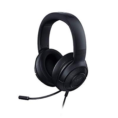 Razer Kraken X Ultralight Gaming Headset: 7.1 Surround Sound Capable - Lightweight Frame - Bendable Cardioid Microphone - For PC, Xbox, PS4, Nintendo Switch - Black (Renewed) by Razer Inc.