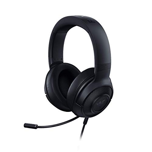 Razer Kraken X Ultralight Gaming Headset: 7.1 Surround Sound Capable - Lightweight Frame - Bendable Cardioid Microphone - For PC, Xbox, PS4, Nintendo Switch - Black (Renewed)