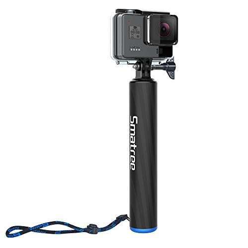 Smatree F2 Waterproof Floating Carbon Fiber Selfie Stick Compatible for GoPro MAX/Hero/9/8/7/6/5/4/3 Plus/3/2/1/DJI OSMO Action