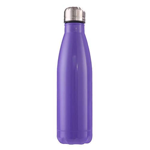 B/H Botella Deportiva antifugas para Ejercicios al Aire Libre portátil, Color Creativo, Acero Inoxidable, Frasco de vacío-D_500ml