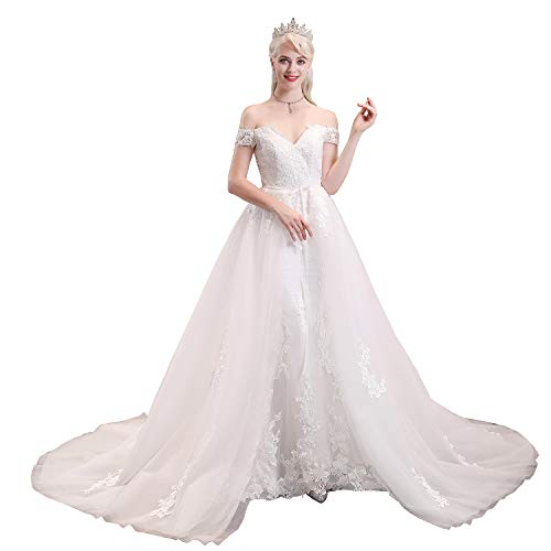 Top 10 Best Wedding Dress Off the Shoulder Con Tull Comparison