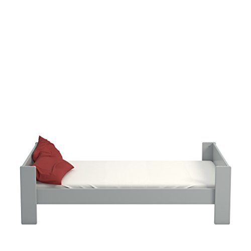 Steens Kinderbett, Einzelbett For Kids, Liegefläche 90 x 200 cm, (B/H/T) 206 x 63 x 102 cm, MDF, Grau