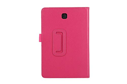 Tablet Case For Samsung Galaxy Tab A T550 T555 SM-T550 9.7 Stand PU Leather Smart Cover Case Protector-Rose Red