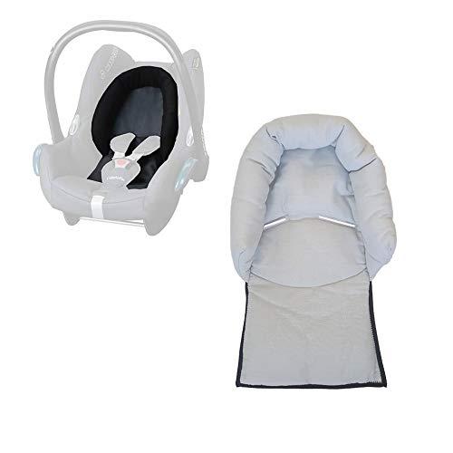 Aveanit Maxi Cosi Kopfkissen Kopfstütze Kopfpolster für Babyschale Sitzverkleinerer Cabriofix Citi NewBorn Auto-Sitzverkleinerer Autositz 100% Baumwolle Grau - Gray