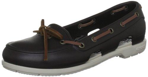 Crocs Beach Line Boat Shoe Women, Damen Bootsschuhe, Braun (Espresso/Stucco), 42/43 EU (W11)