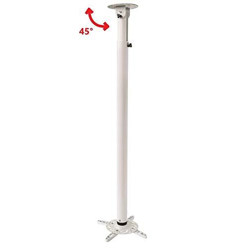 TradeMount Soporte de Techo para proyector, Largo, Extensible, 110 cm-197 cm, reclinable 130°, Giro 360° para LG PV150G