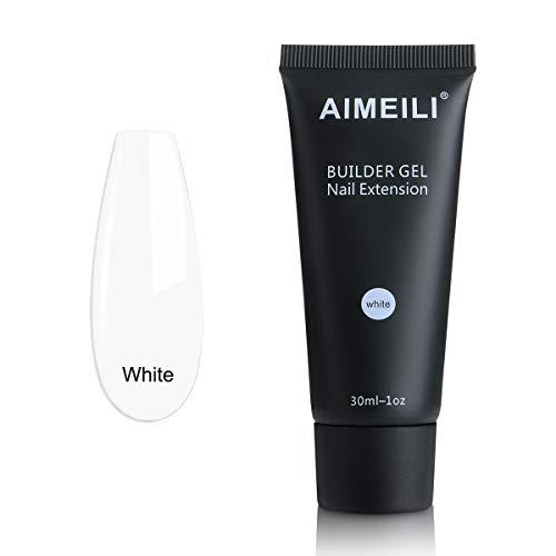 AIMEILI Gel Nagel Verlängerung Weiß 30ml Soak Off UV LED Nails Aufbaugel Nail Extension Builder Gel