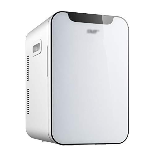 Frigoríficos mini Refrigerador Pequeño para Automóvil Refrigerador Pequeño para Estudiantes Refrigerador Cosmético Refrigerador Pequeño para Dormitorio (Color : Blanco, Size : 37 * 31 * 50cm)