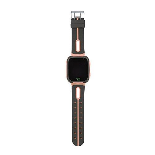 Qalabka Niños Reloj Inteligente Niños Rastreador SmartWatch con cámara SOS Iluminación para iOS Android Teléfono Celular BT Pantalla táctil Rosa
