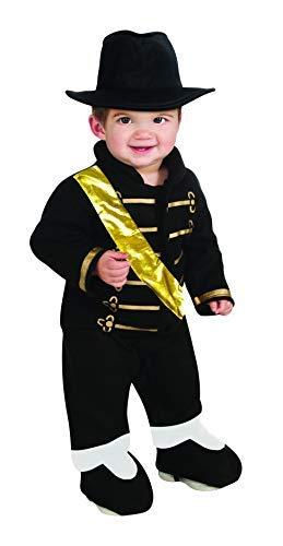monde éblouissant Mejor Calidad de Halloween Infantil Ezon Romper Michael Jackson de Vestuario (Negro) ITG # 682