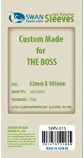 Swan Card Sleeves (52x105mm) - 160 Pack, Thin Sleeves - The Boss