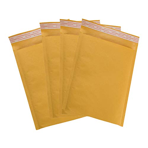MIK Supplies 25 Pack #2 8.5x12 Kraft Bubble Mailers Self Seal Padded Bubble Envelopes for Mailing, Shipping, Packaging, (Usable Space 8.5x10.75).
