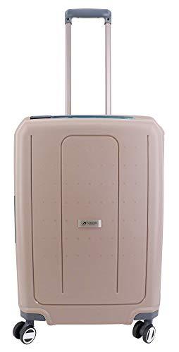 Medium 65 cm Suitcase with 4 Castors 100% Polypropylene Airtex Secure Closure with 3 Points Brown Brown 65 x 46 x 27 cm