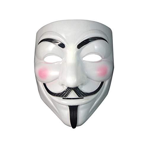 Zhangpu Halloween Maske,New V wie Vendetta Maske mit Eyeliner Nostril Anonymous Guy Fawkes Fancy Adult Kostüm Zubehör Halloween-Maske