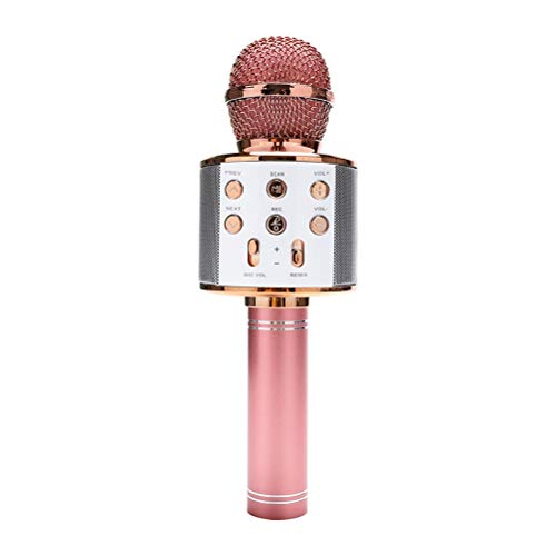 YOUSHI Micrófono Portátil De Karaoke con Bluetooth, Altavoz Profesional Inalámbrico, Micrófono De...