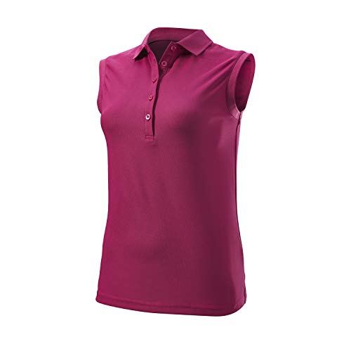 Wilson Damen Sleeveless Polo T-Shirt, Lila, LG