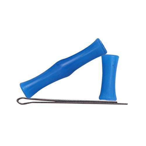 GAOJIAN Tiro con Arco Guardia de Dedo de Silicona Recurvo Tirón Recto Cuerda de Arco Absorción de Golpes Protector de Dedos Equipo de protección para Tiro con Arco Bowstring Finger Saver - Blue