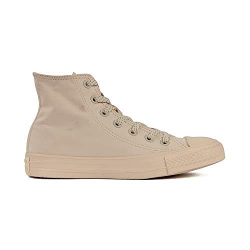 Converse Chuck Taylor All Star High Classic CTAS Hi - Zapatillas altas de lona, unisex, con pegatina de 7 km/h, color Naranja, talla 36 EU