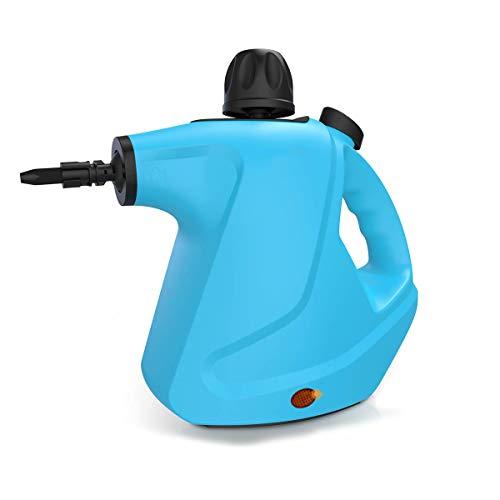 CWWHY Handdruck-Dampfreiniger, 450 Ml Upgrade-Dampfreiniger, Zur Fleckenentfernung, Bodendampfer, Teppiche, Vorhänge, Autositze Und Mehr, Mit 9-Teiligem Zubehörsatz