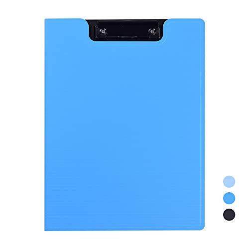 Aibecy A4 Klemmap, clipboard, opbergruimte voor documenten, voorbladen, ordner, organizer, geheugen, schrijfblok, schrijfwaren voor schoolkantoor en zakelijke vergaderingen donkerblauw