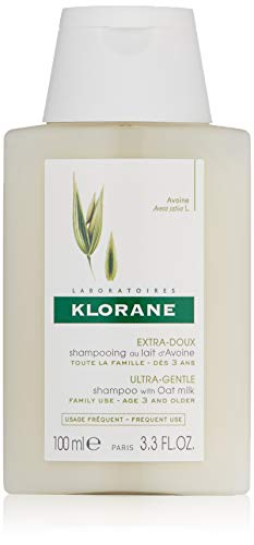 Klorane Ultra-Gentle Shampoo with Oat Milk, Suitable for the Entire Family, SLS and Paraben Free, 3.3 oz.