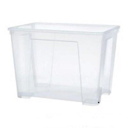 Ikea Samla Box 11 litros Caja de almacenamiento, plástico, transparente, 28 x 39 x 14 cm