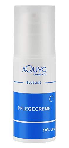 Blueline 10% Urea Creme für sehr trockene Haut, Körpercreme bei Psoriasis oder Neurodermitis, Pflegecreme gegen Juckreiz, Hautpflege für Hautunreinheiten und Ausschlag (100ml Airless Spender)