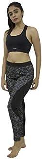 Lovable Women Girls Cotton Lycra Sports Tights in Multicolor- AERO Sprinter Print-ED-BK