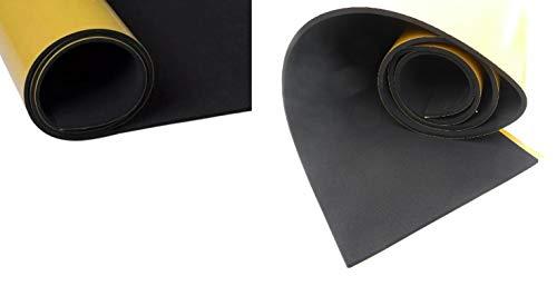 (9,99 €/m) Dichtungsband, Moosgummirolle, Zellkautschukband, Dämmband ca. 10 Meter x 500 mm x 1 mm, einseitig selbstklebend