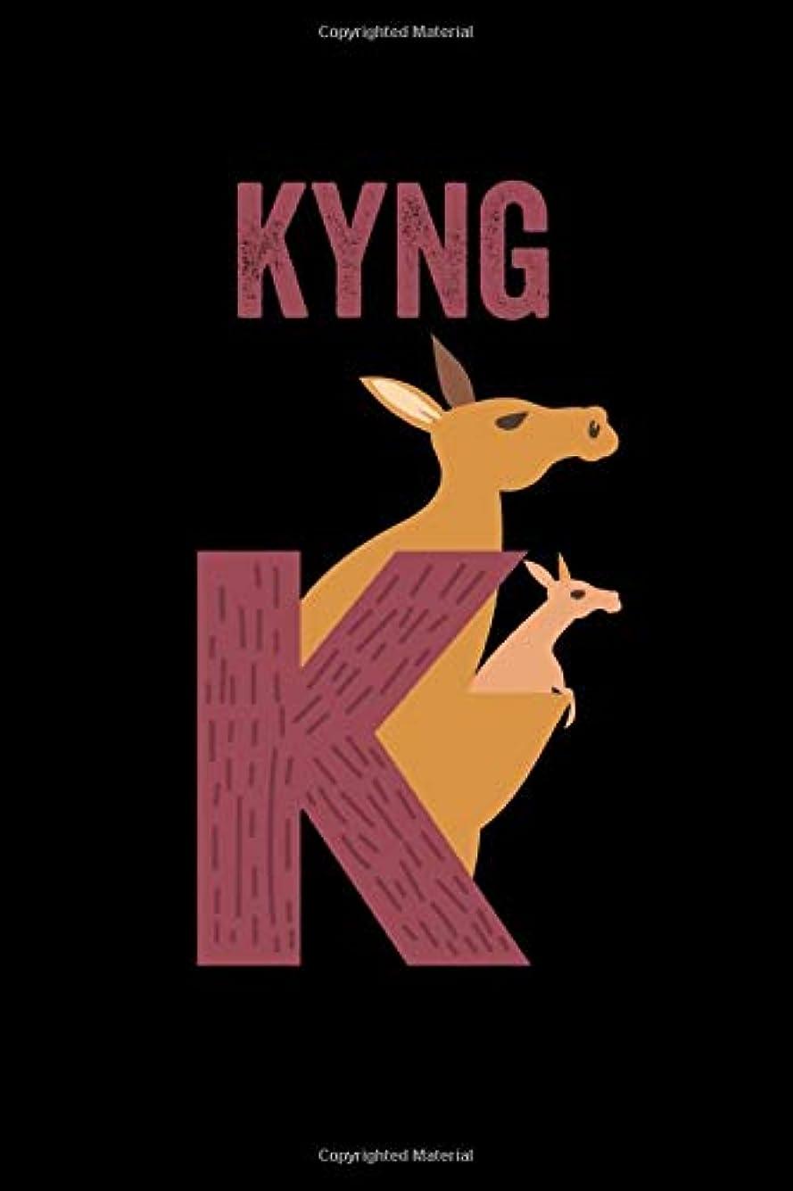 デザートストリップ赤字Kyng: Journal (Diary, Notebook) Personalized Custom Name Alphabet Kangaroo Birthday Gift for Boys