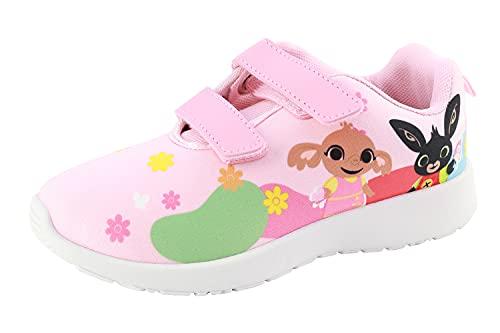 Characters Cartoons Bing – Zapatillas deportivas bajas con cordones de velcro – Producto original, 827 Rosa, 25 EU