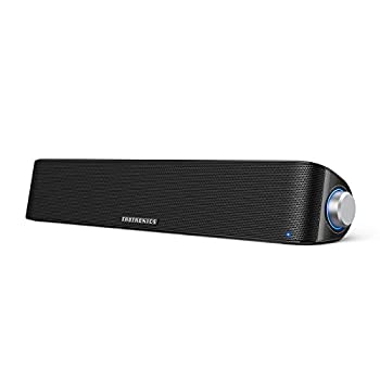 TaoTronics Computer Speaker Bluetooth 5.0 Wireless PC Soundbar Stereo USB Powered Sound Bar Speaker for Computer Laptop Smartphone Tablet Game Console Aux Connection Black