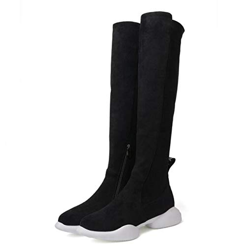 ACWTCHY over de knielaarzen platte hiel platform vrouwen laarzen meisjes herfst winter dijen hoge lange laarzen schoenen
