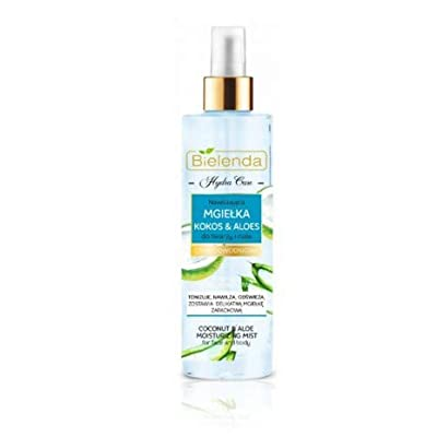 Bielenda Hydra Care Coconut and Aloe Moisturizing Mist for Dry and Dehydrated Skin Face and Body by Bielenda