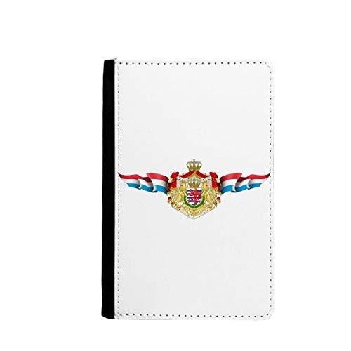 Luxemburgse vlag nationaal embleem paspoorthouder reisportemonnee hoesje kaart portemonnee