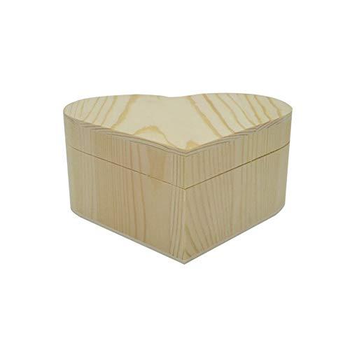 6P6 Preciosa caja de embalaje de madera Caja de joyería Caja de madera de amor en forma de corazón Caja de regalo pintada en forma de corazón