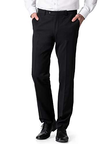 Walbusch Herren Proflex Anzug Hose einfarbig Schwarz 60