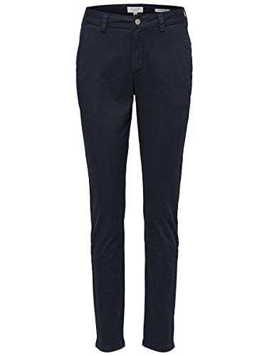 SELECTED FEMME Damen Chino Bio-Baumwoll 36Navy Blazer