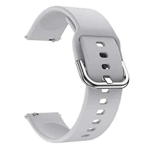 Correa de reloj de silicona TPU suave para Samsung Galaxy Watch Active de 20 mm (gris)