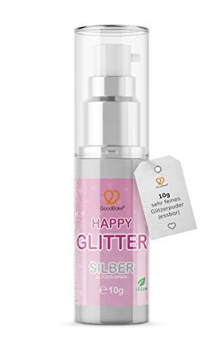 GoodBake Happy Glitter Silber Glitzerpuder Glitzerstaub essbarer Glitzer